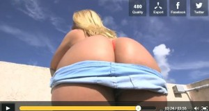 AJ Applegate – Great and big behind salute from the balcony