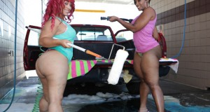 Big butt Cherokee & Pinky washin car butt naked pics