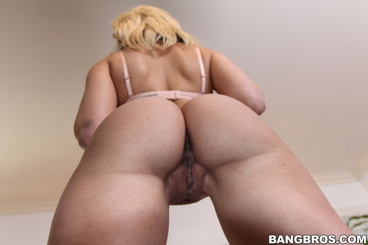 White blonde big ass