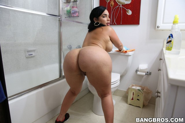 Phat latina maid bubble butt fucked